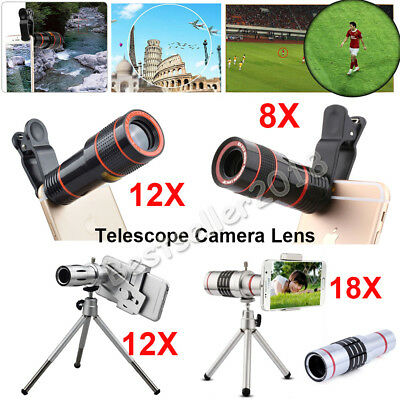 US Clip-on 12X 18X Optical Zoom HD Telescope Camera Lens For Apple iPhone HOT