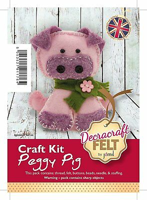 Decracraft Felt Craft Kit - Make It Yourself - Peggy Pig