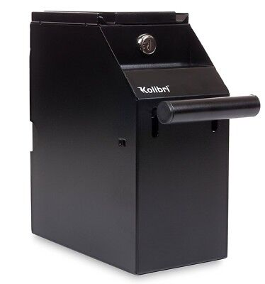 Point Of Sale Drop Safe Drop Box Money Safe Under Counter Mount Black