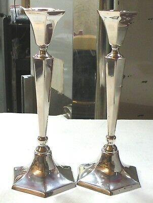 A lot of 2: Hand Made Silver Candlestick Sterling Silver Hazorfim 800