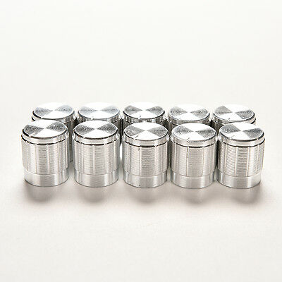 10PCS Aluminum Knobs Rotary Switch Potentiometer Volume Control Pointer Hole LT