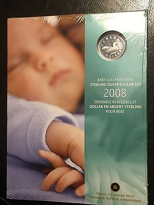 2008 Silver Canada $1 Dollar Proof Coin & Baby Lullabies Cd Set