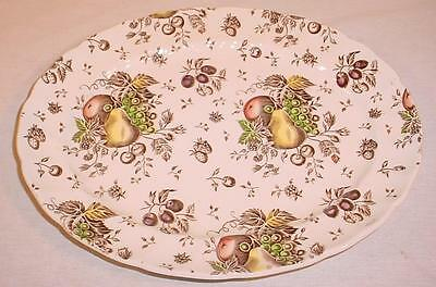 "Vintage Johnson Bros 12""x 10"" Autumn's Delight Serving Platter Made In England"