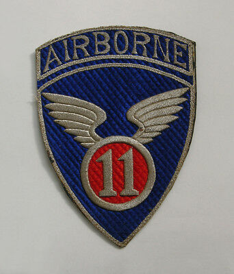 RARE WWII WW 2 US ARMY 11th AIRBORNE DIVISION PATCH - HELP A VETERAN RAISE MONEY