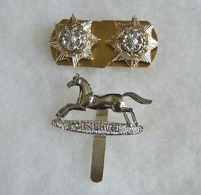 British Army Prince Of Wales Own Yorkshire Regiment Cap & Collar Badges