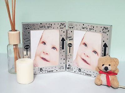 Silver Photo Frame • Baby Christening Gift/Keepsake • Boy/Girl Baby Shower Gift