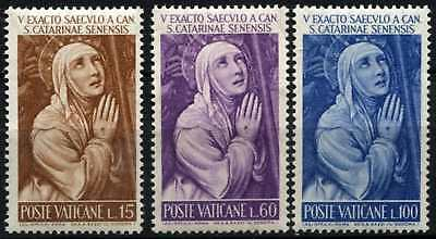 Vatican City 1962 SG#379-381 St. Catherine Of Sienna MNH Set #D65365