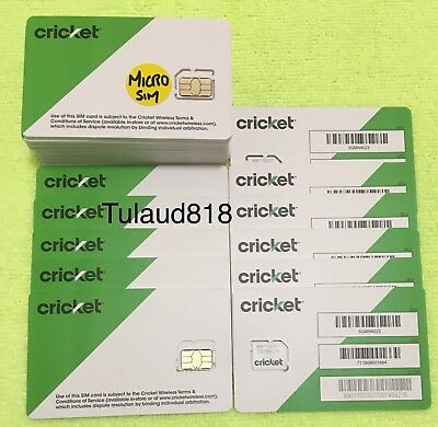 🆕 Cricket 🔵 Micro Sim Card ⭕️SKU: SGMN4003 🔵 for activation / replacement