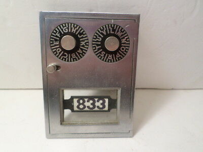 Vintage US Post Office PO Box Combination Dial Lock Door Double Lock