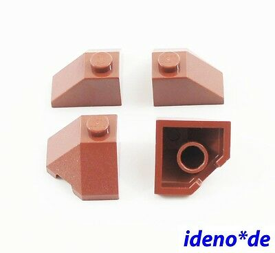 Lego 4 pcs roof angled Wings Outdoors 45° 2 x 2 Blue 13548 6035354 NEW