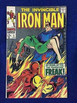 1968 Marve Invincible Iron Man #3 - The Fearsome Freak Appearance Silver Age