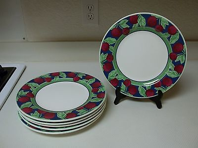 Furio Home Portugal ~ Stoneware ~ Set of 6 Dinner Plates Cherries
