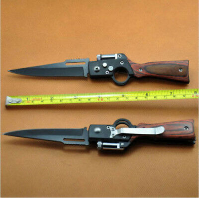 Tactical Folding Blade Knife Survival Hunting Camping Pocket Knife With LED CH