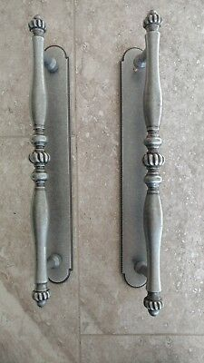 Large Cast Brass Door Pulls Handle with Backplate