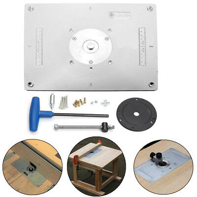 Router lift router table height adjustment raiser raizer plunge aluminum plunge router table insert plate w ring for diy woodworking work bench greentooth Gallery