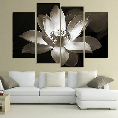 4PCS No Frame Large Canvas Abstract Modern Home Wall Decor Oil Painting Picture