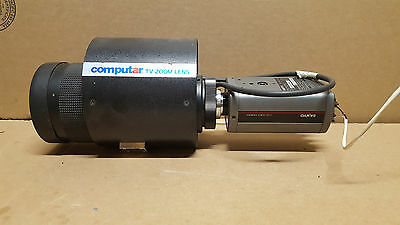 Computar TV Zoom Lens V10Z-1618M 16-160mm 1:1.8 with Sanyo CCD Camera VDC3824