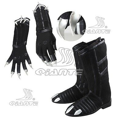 2018 Black Panther Cosplay Gloves Boots Shoes Halloween New Captain American