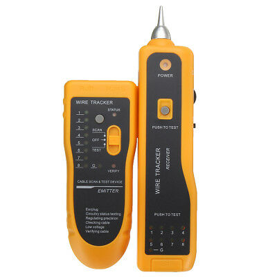 Telephone Network Cable Wire Line Probe Tracker Tester Tone Generator Finder