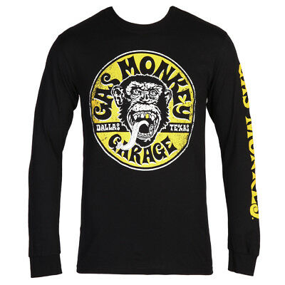 Gas Monkey Garage Equipped Circle Logo Adult Long Sleeve T-Shirt - Black/Yellow