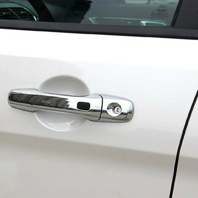 Chrome Side Door Handle Protector Cover For Ford Explorer 2016 2017 with 3 holes