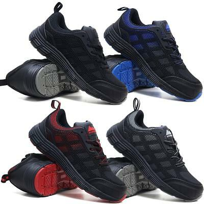Mens Lightweight Safety Steel Toe Cap Work Ankle Hiking Boots Trainers Shoes Siz