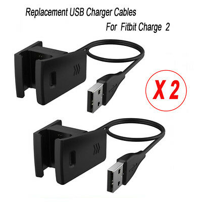 2x Replacement Charger Cord for Fitbit Charge 2 Watch Clip USB Charging Cable AU