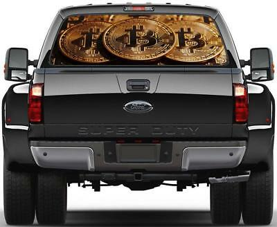 Bitcoin Cryptocurrency Rear Window Decal Graphic Sticker Car Truck SUV Van 732
