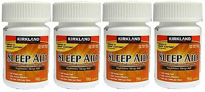 Kirkland Signature Night time Sleep Aid  25 mg 96 Tablets (Pack of 4)