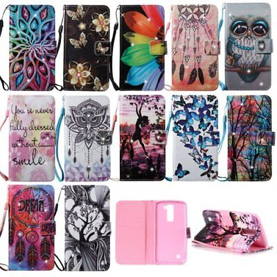 For LG Stylo/Stylus 2 phone case pu leather wallet holder Bling Diamond cover
