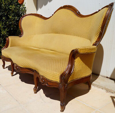 Antique French Louis XV 3 Seater Settee inc Reupholstery (exc. fabric)