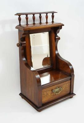 Edwardian  Rosewood table top shaving stand with drawer, excellent condition