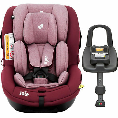 New Joie Merlot I Anchor Advance Group 0+/1 Car Seat Baby Carseat & Isofix Base