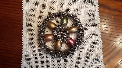 Vintage Victorian Christmas Ornament Wire/Tinsel/Beads