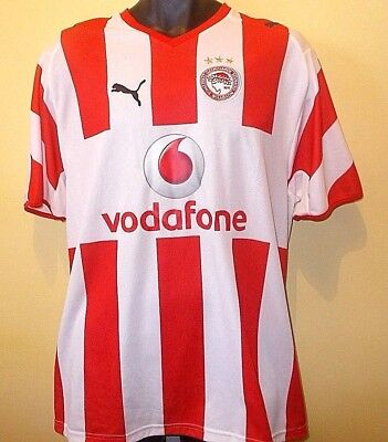Official Olympiacos Greece SS Home Shirt 2007-2008 (L)