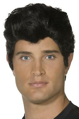 Mens Grease Danny Wig Adult Iconic 50S Musical Movie Fancy Dress Party Accessory
