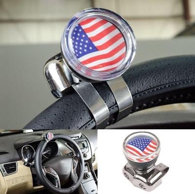 Steering Wheel Suicide Spinner Handle Car Truck Assist Power Knob Ball USA FLAG