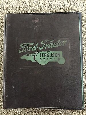 Ford Tractor Ferguson System Sales Binder and Ford Tractor Instruction Book