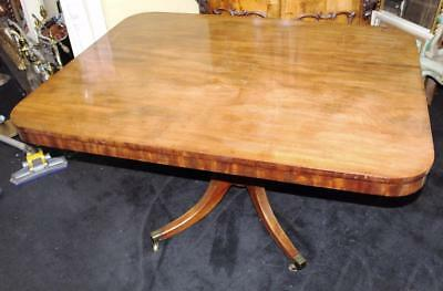 Antique Victorian Mahogany Pedestal Breakfast Table