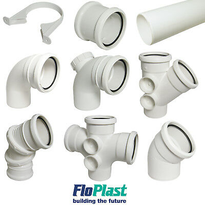 """FLOPLAST"" 110mm White Soil Pipe and Fittings Bend, Socket, Branch, Vent, Boss"
