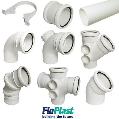 Floplast 110mm White Soil Pipe and Fittings