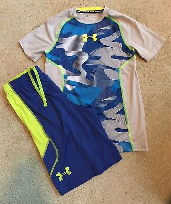 EUC Boy's Under Armour Colbalt Blue Camo Outfit Sz. Large (12-14)