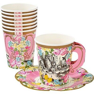Floral Alice In Wonderland Afternoon Tea Party 44pc Tableware Set Decoration