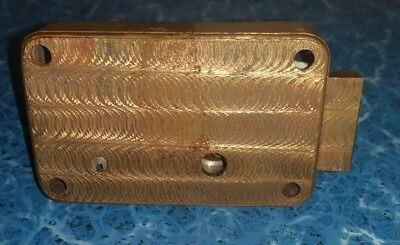 Vintage Art Deco Brass Deadbolt Lock Mechanism Assembly