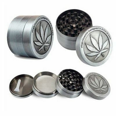 Tobacco Herb Spice Grinder 4 Piece Herbal Alloy Smoke Chromium Crusher Best