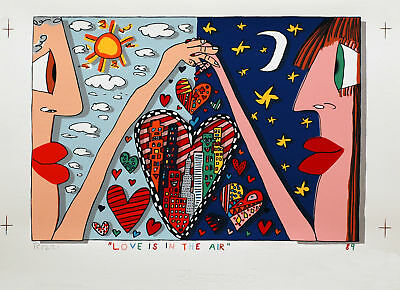 Rizzi James, Love is in the air, Colour Silkscreen, Handsigned