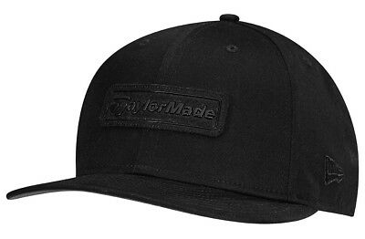 TaylorMade Lifestyle New Era 9Fifty Snapback Flatbill Golf Hat Black Red New 547d0b4ab