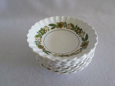J & G MEAKIN COLONIAL CLASSIC WHITE ENGLISH IRONSTONE DESSERT BOWL (s) EXCELLENT