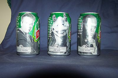 Mt Dew  Collector Cans= Star Wars Episode 1 = 3 Can Lot