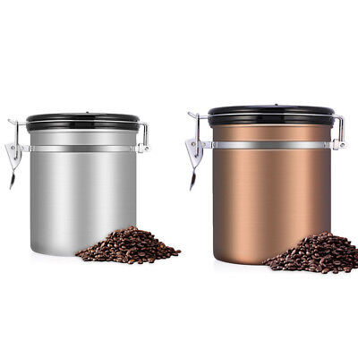 15L STAINLESS STEEL Coffee Bean Storage Container Canister CO2